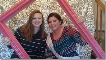 Ariel with Abi at her shower